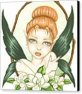 Sweet Magnolia Fae Canvas Print by Elaina  Wagner