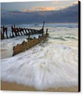 Swept Ashore Canvas Print by Mike  Dawson