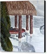 Swim To A Beach Bar Cool Huh Canvas Print by Leslye Miller