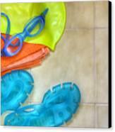 Swimming Gear Canvas Print
