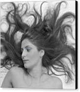 Swirl Girl Canvas Print by Gerard Fritz