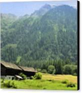 Swiss Mountain Home Canvas Print by Jeff Kolker