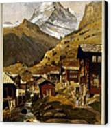 Swiss Travel Poster, 1898 Canvas Print by Granger