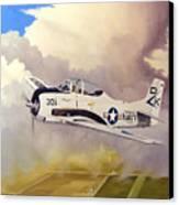 T-28 Over Iowa Canvas Print by Marc Stewart