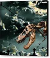 T-rex Graveyard Canvas Print