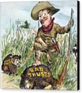 T. Roosevelt Cartoon, 1909 Canvas Print