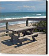 Table For You In Melbourne Beach Florida Canvas Print