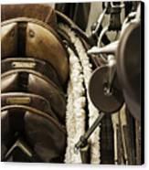 Tac Room Saddles Canvas Print by John Greim