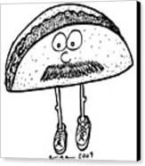 Taco Mustache Canvas Print