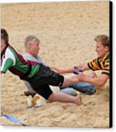 Tag Beach Rugby Competition Canvas Print by David  Hollingworth