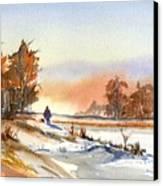 Taking A Walk Canvas Print