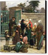 Taking In Foundlings Canvas Print