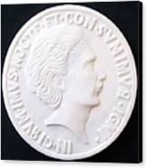 Talent Of Stefano Bollani As Byzantine Emperor In Girum Imus Nocte Et Consumimur Igni Canvas Print by Marino Ceccarelli Sculptor