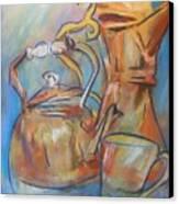 Talkin Teapots Canvas Print