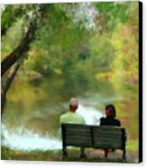 Talking It Over Canvas Print