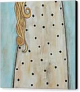 Tall Angel With Bird Canvas Print by Rain Ririn
