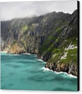Tall Sea Cliffs Of Slieve League Donegal Ireland Canvas Print by Pierre Leclerc Photography