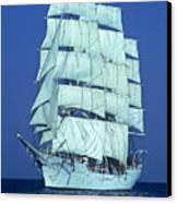 Tall Ship At Sea Canvas Print by Kenneth Garrett