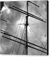 Tall Ship Masts Canvas Print by Robert Ullmann