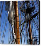 Tall Ship Rigging Lady Washington Canvas Print by Garry Gay