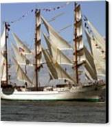 Tall Ship Canvas Print by Robert  Torkomian