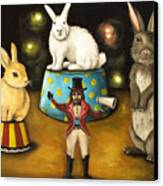 Taming Of The Giant Bunnies Canvas Print by Leah Saulnier The Painting Maniac