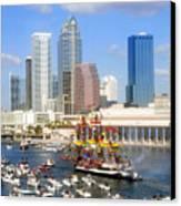 Tampa's Flag Ship Canvas Print