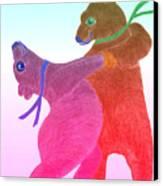 Tango Bears Canvas Print