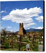 Taos Pueblo Cemetery Canvas Print