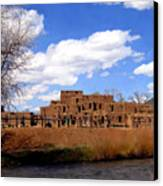 Taos Pueblo Early Spring Canvas Print