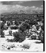 Taos Snowfall Canvas Print by Susan Chandler