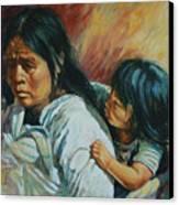 Tarascan Woman Canvas Print