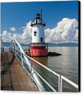 Tarrytown Lighthouse Hudson River New York Canvas Print by George Oze