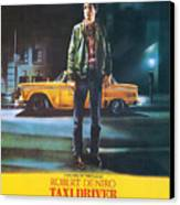 Taxi Driver - Robert De Niro Canvas Print by Georgia Fowler