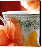 Tea In The Garden Canvas Print by Angela Davies