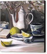 Tea With Lemon Canvas Print