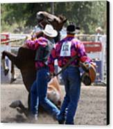 Team Bronc Riding 2008 Canvas Print