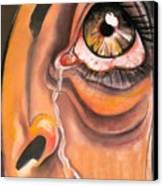 Tear Canvas Print by Yxia Olivares