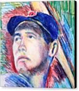Ted Williams Boston Redsox  Canvas Print by Jon Baldwin  Art