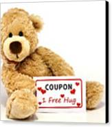 Teddy Bear With Hug Coupon Canvas Print by Blink Images