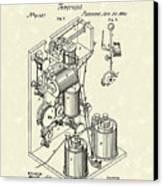 Telegraph 1869 Patent Art Canvas Print by Prior Art Design
