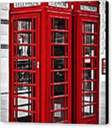 Telephone Boxes In London Canvas Print
