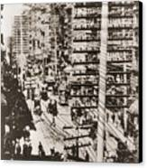 Telephone Wires Over New York, 1887 Canvas Print by Everett