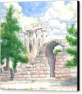 Temple Of Apollo - Corinth Canvas Print