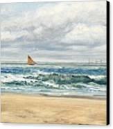 Tenby Canvas Print by John Brett