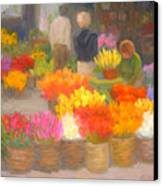Tending Flowers - Amsterdam Canvas Print