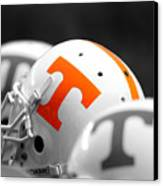 Tennessee Football Helmets Canvas Print by University of Tennessee Athletics