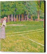 Tennis At Hertingfordbury Canvas Print by Spencer Frederick Gore