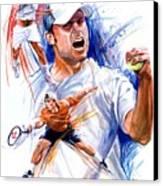 Tennis Snapshot Canvas Print by Ken Meyer jr
