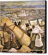 Tenochtitlan (mexico City) Canvas Print by Granger